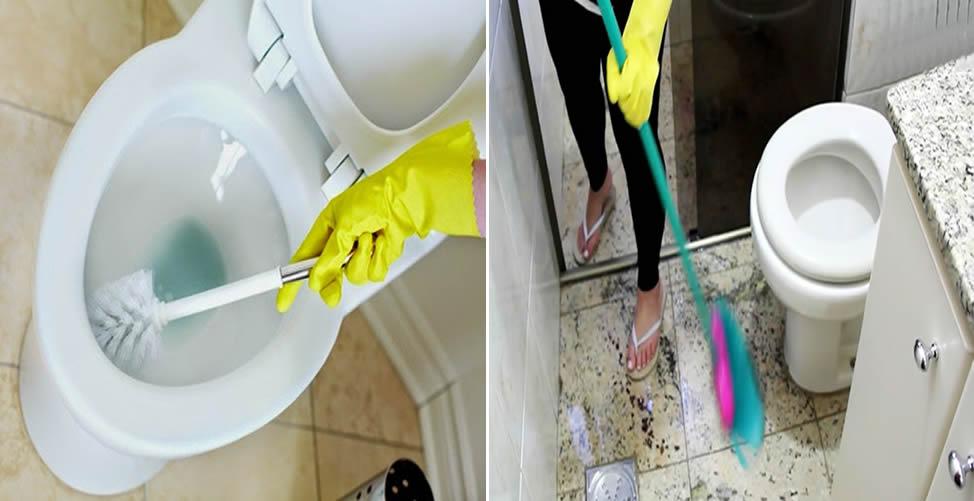 So reinigen Sie das Badezimmer