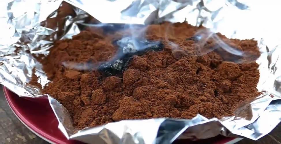 Kaffeesatz verbrennen